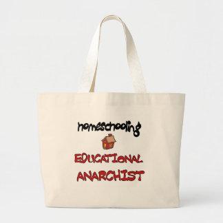 homeschooling large tote bag