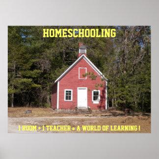 Homeschooling Schoolhouse poster
