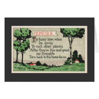 Homesick-A Poem Card