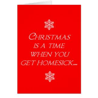 Homesick at Christmas Greeting Card