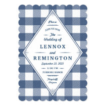 Homespun Gingham Wedding Invitation