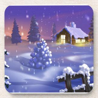 Homespun Winter Drink Coaster