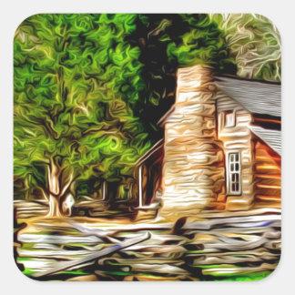 Homestead Art Square Sticker