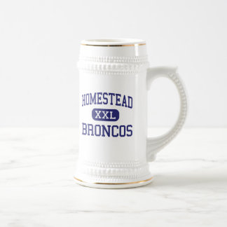 Homestead - Broncos - High - Homestead Florida 18 Oz Beer Stein