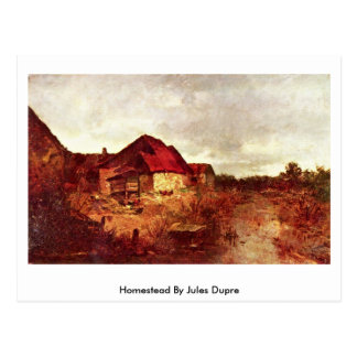 Homestead By Jules Dupre Postcard