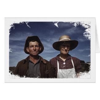 Homestead Farmer & Wife Card