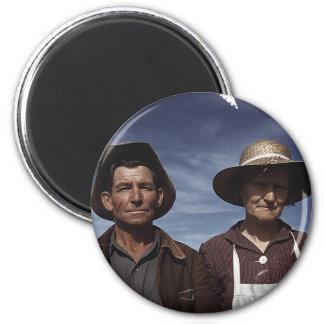 Homestead Farmer & Wife Fridge Magnet