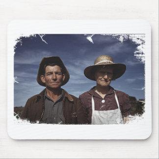 Homestead Farmer & Wife Mousepad