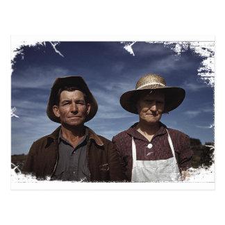 Homestead Farmer & Wife Postcard