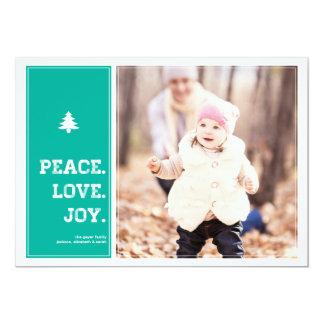 Homestead - Holiday Photo Card - Blue