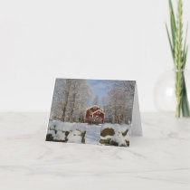 Homestead in Winter Holiday Card