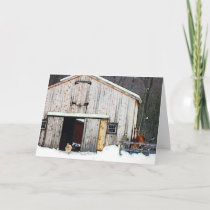 Homestead In Winter Note Card