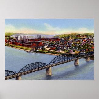 Homestead Pennsylvania Steel Mills Poster