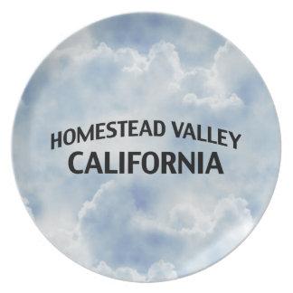 Homestead Valley California Melamine Plate