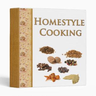 Homestyle que cocina la carpeta del libro de cocin