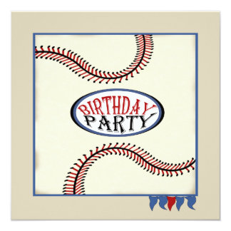 Hometown Baseball Birthday Card