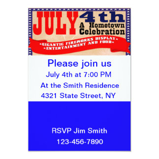 Hometown Celebration: 4th of July Party Invitation