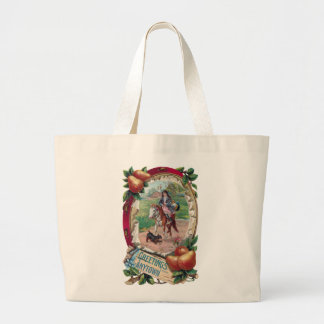 Hometown Greeting with Rider, Pears and Tambourine Large Tote Bag