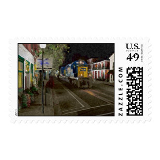 Hometown Train Postage Stamp
