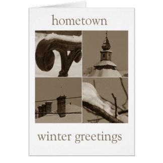 hometown winter greetings card