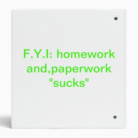 homework and paperwork binder