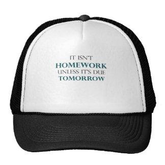 Homework Due Tomorrow Trucker Hats