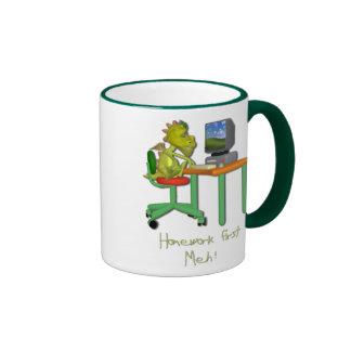 Homework First Meh Coffee Mug