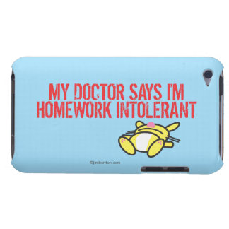 Homework Intollerant Barely There iPod Cases