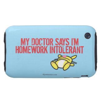 Homework Intollerant iPhone 3 Tough Cover