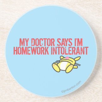 Homework Intollerant Beverage Coasters