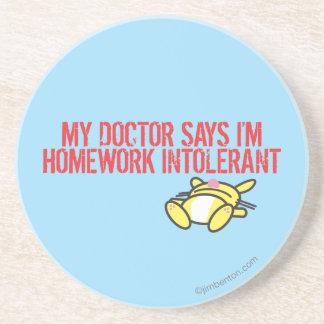 Homework Intollerant Drink Coaster