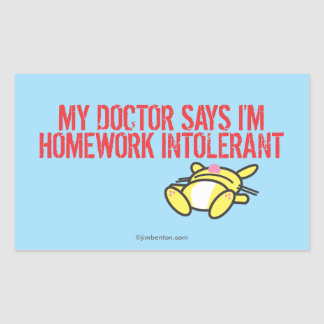 Homework Intollerant Rectangular Sticker