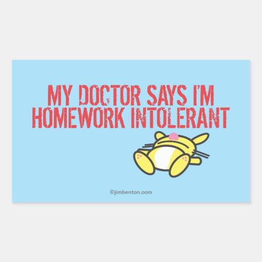 Homework Intollerant Rectangular Sticker