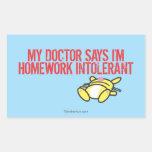 Homework Intollerant Sticker