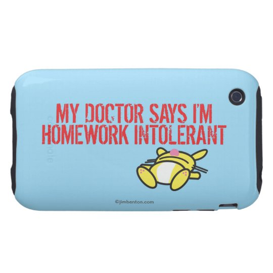 Homework Intollerant Tough iPhone 3 Case