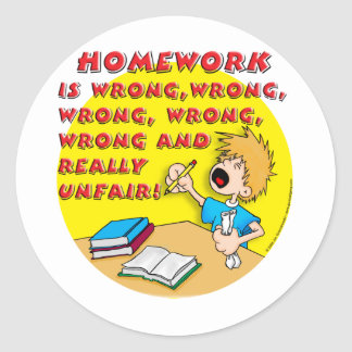 Homework is wrong! (boy) stickers