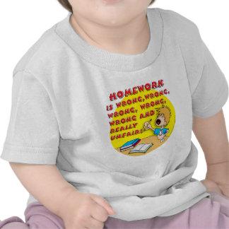Homework is wrong! (boy) shirt