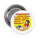 Homework is wrong! (girl) 2 inch round button