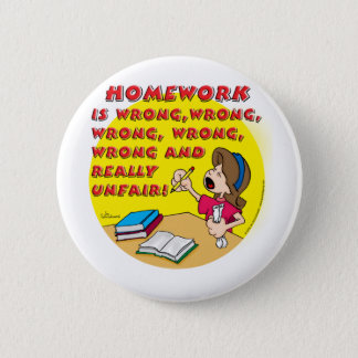 Homework is wrong! (girl) button