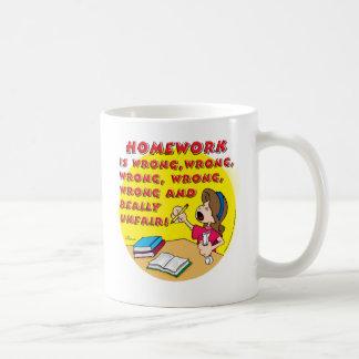 Homework is wrong! (girl) coffee mug