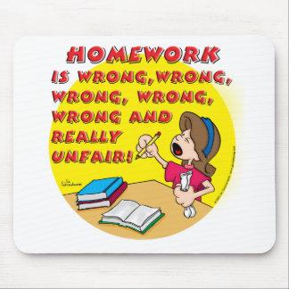 Homework is wrong! (girl) mouse pad