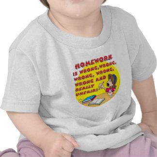 Homework is wrong! (girl) shirt