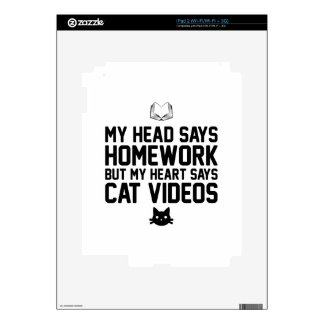 Homework or Cat Videos Decals For The iPad 2