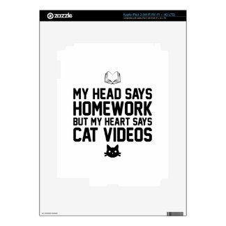 Homework or Cat Videos iPad 3 Decal
