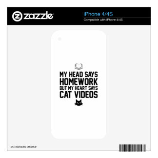 Homework or Cat Videos Skin For iPhone 4S