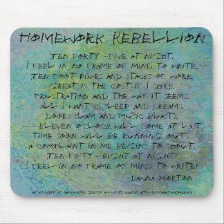 Homework Rebellion Mouse Pad