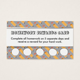 Homework Rewards Card | Teacher's Classroom Tools