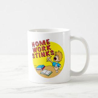 Homework Stinks! (boy) Coffee Mug