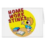 Homework Stinks! (boy) Greeting Cards