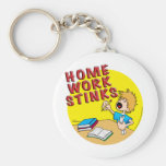 Homework Stinks! (boy) Keychain